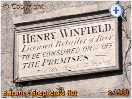 Ewelme : Licensee Plate of the Shepherd's Hut [c.1900]