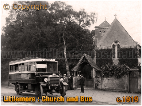 Littlemore : Church and Bus [c.1919]