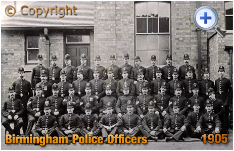 Birmingham Police Officers at Police Station [1905]