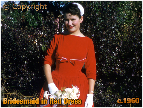New Zealand : Bridesmaid in a Red Dress [c.1960]