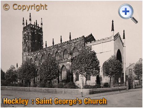 Birmingham : Saint George's Church from Tower Street and Great Russell Street at Hockley [c.1954]