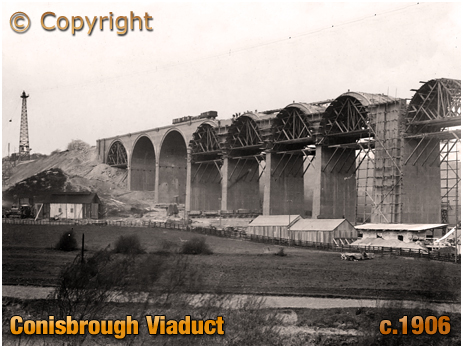 Yorkshire : Construction of Conisbrough Viaduct in the Don Valley [c.1906]