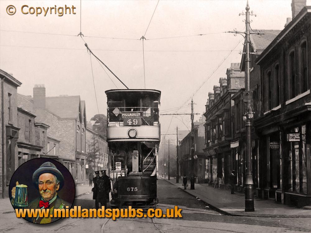 Lancashire : Tram at Sale Moor Village [c.1910]