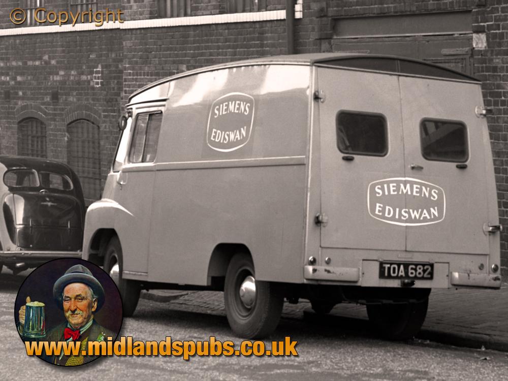Birmingham : Siemens Ediswan Van parked in Clifford Street [1957]