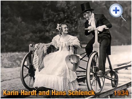 """Karin Hardt and Hans Schlenck : """"Die Liebe und die erste Eisenbahn"""" [1934]"""