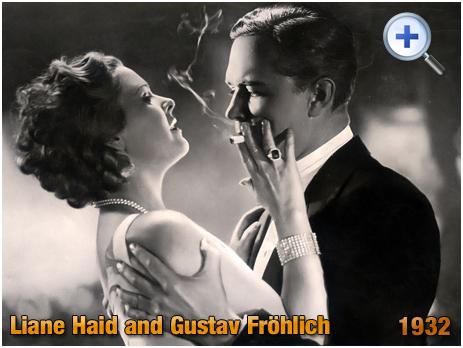 """Liane Haid and Gustav Fröhlich : """"Ich will nicht wissen, wer du bist"""" [1932]"""