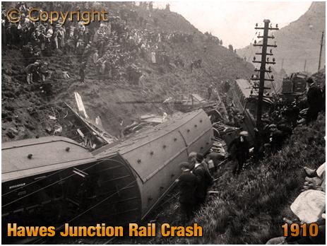 Yorkshire : Railway Crash near Hawes Junction [1910]