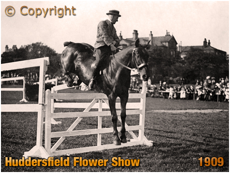Yorkshire : Horse Jumping at the Huddersfield Flower Show [1909]