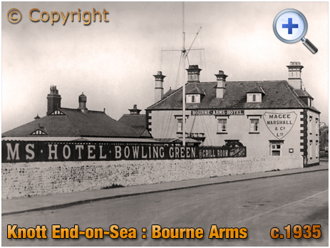 Lancashire : Bourne Arms Hotel at Knott End-on-Sea [c.1935]