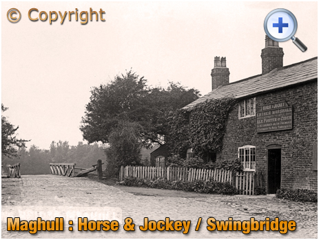 Lancashire : Horse and Jockey and Swing Bridge on Leeds & Liverpool Canal [c.1905]