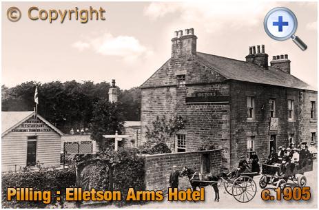Lancashire : Elletson Arms Hotel at Stake Pool near Pilling [c.1905]