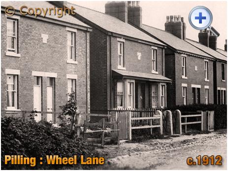 Lancashire : Houses in Wheel Lane at Pilling [c.1912]