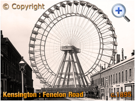 London : The Great Wheel at Earl's Court Exhibition Grounds [c.1895]