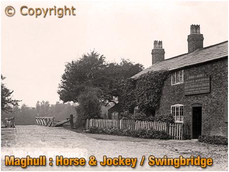 Lancashire : Horse and Jockey and Swing Bridge on Leeds & Liverpool Canal [c.1905]