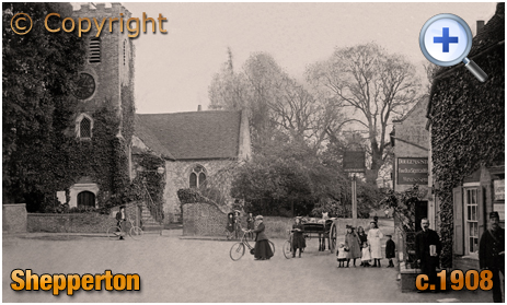 Shepperton : Church of Saint Nicholas and King's Head [c.1908]