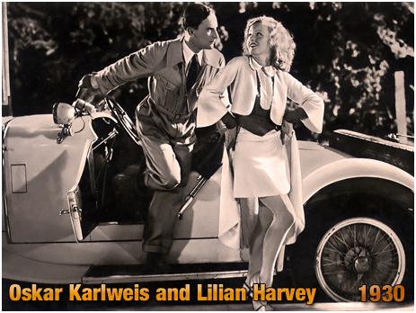 """Oskar Karlweis and Lilian Harvey : """"Die Drei von der Tankstelle"""" [1930]"""