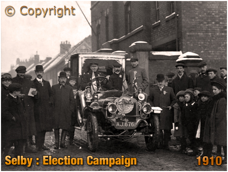 Yorkshire : General Election Campaign at Barkston Ash near Selby [1910]