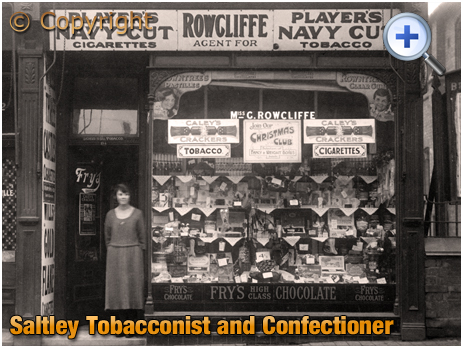Birmingham : Rowcliffe's Tobacconist and Confectioner on Alum Rock Road at Saltley [c.1928]