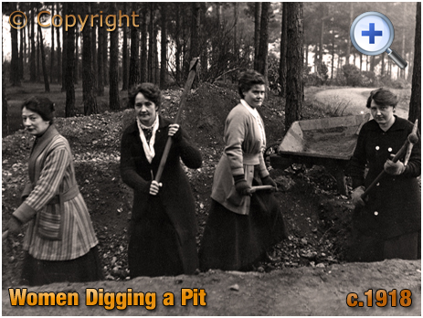 Women Digging a Pit in Forest [c.1918]
