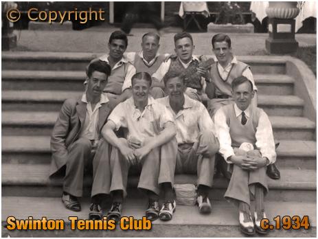 Lancashire : Members of Swinton Tennis Club [c.1934]