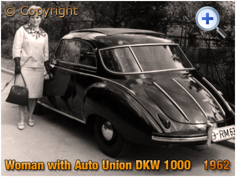 Berlin : Woman with an Auto Union DKW 1000 [1962]