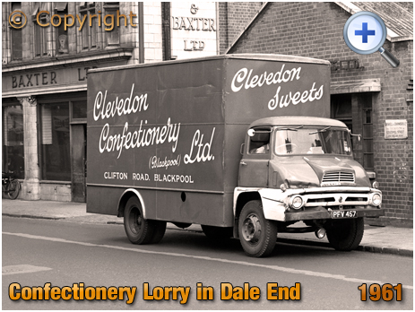 Ford Thames Trader Lorry of Clevedon Confectionery Ltd. at Marsh & Baxter in Dale Ene at Birmingham [1961]
