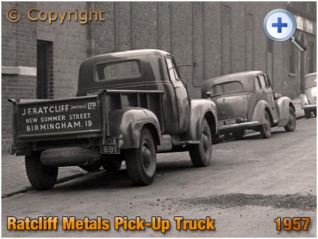 Bedford J Type Pick-Up Truck of Ratcliff Metals in Birmingham [1957]