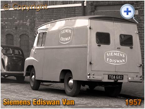 Siemens Ediswan Van parked in Clifford Street Birmingham [1957]