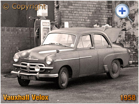 Vauxhall Velox [PNX 468] at a diesel pump at Birmingham [1958]