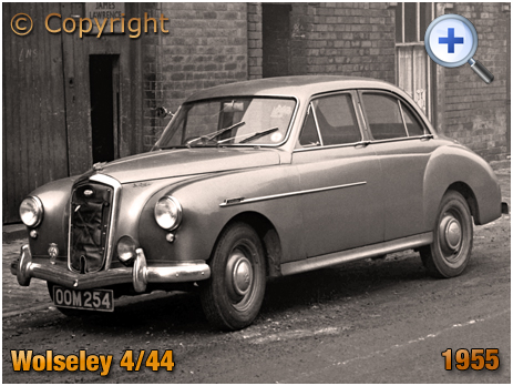 Wolseley 4/44 Saloon Car parked in Birmingham [1955]