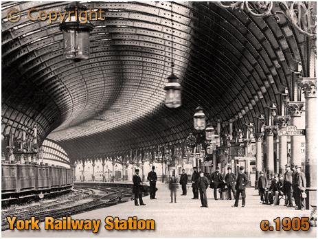 Yorkshire : The Railway Station at York [c.1905]