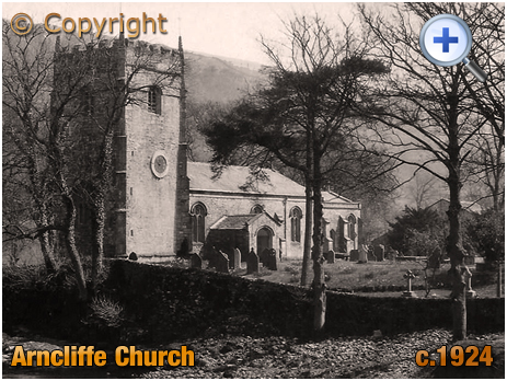 Yorkshire : Church of Saint Oswald at Arncliffe [c.1924]