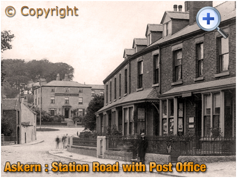 Yorkshire : Post Office on Station Road at Askern [c.1912]