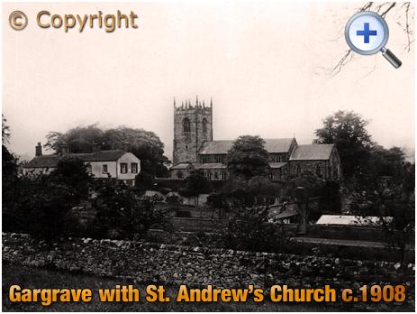 Yorkshire : Church of Saint Andrew at Gargrave [c.1908]