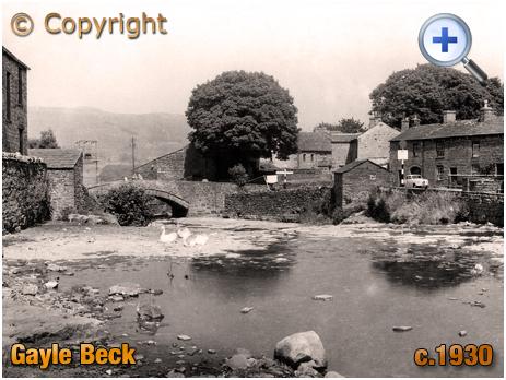 Yorkshire : Gayle Beck near Hawes in Wensleydale [c.1930]