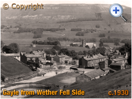 Yorkshire : Gayle from Wether Fell Side [c.1930]