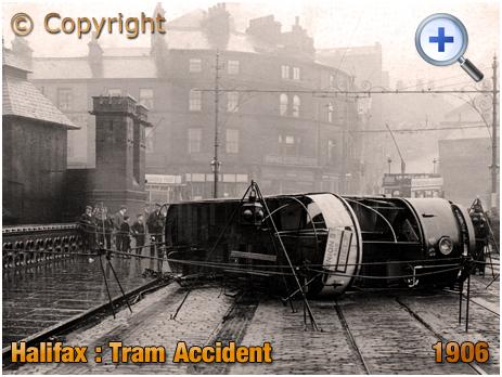 Yorkshire : Tram Accident at Halifax [1906]