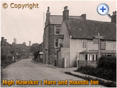 Yorkshire : Hare and Hounds Inn at High Hawsker