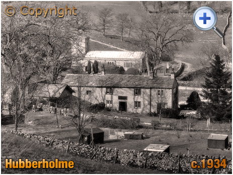 Yorkshire : Church of Saint Michael and All Angels and the George Inn at Hubberholme [c.1934]