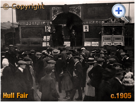 Yorkshire : Chipperfield's Menagerie at Hull Fair [c.1905]