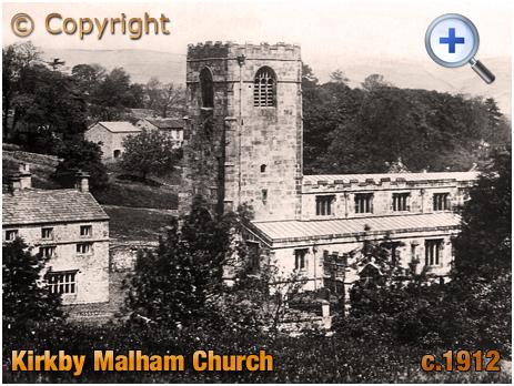 Yorkshire : Church of Saint Michael the Archangel at Kirkby Malham [c.1912]