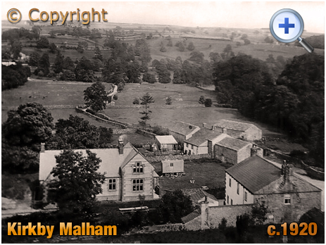 Yorkshire : Elevated View of Kirkby Malham [c.1920]