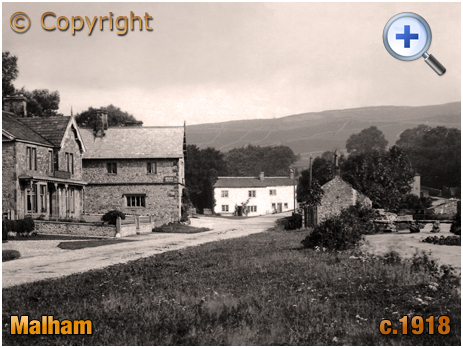 Yorkshire : Malham village with the Buck Inn and Stone Footbridge [c.1918-9]