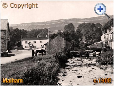 Yorkshire : Malham Beck with Smithy and Stone Bridge [c.1908]