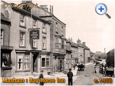 Yorkshire : Silver Street with the Bay Horse Inn at Masham [c.1908]