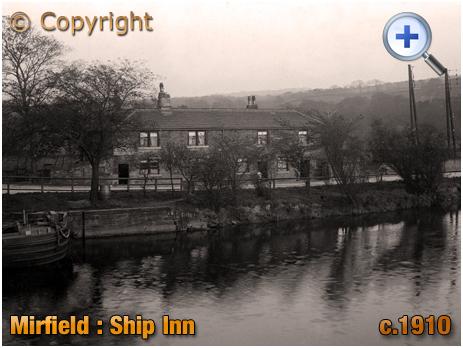 Yorkshire : The Ship Inn near Shepley Bridge at Mirfield [c.1910]