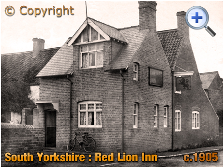Yorkshire : The Red Lion in South Yorkshire [Sheffield/Rotherham area] [c.1905]
