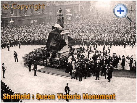 Yorkshire : Unveiling of Victoria Monument at Sheffield [1905]