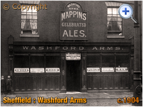Yorkshire : Washford Arms on Attercliffe Road at Sheffield [c.1904]