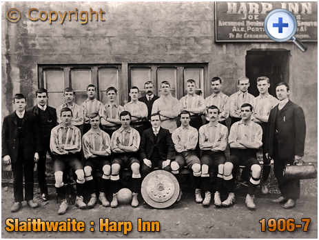 Yorkshire : Slaithwaite United outside the Harp Inn [1906]
